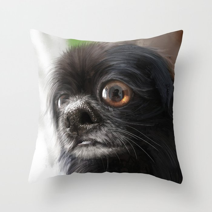 Choco Toshi Throw Pillow