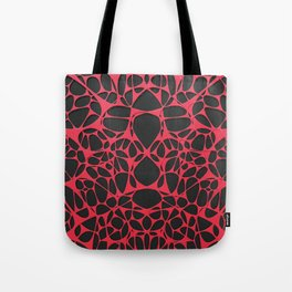 Red on black, organic abstraction Tote Bag