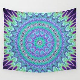 Explosive mandala ball Wall Tapestry