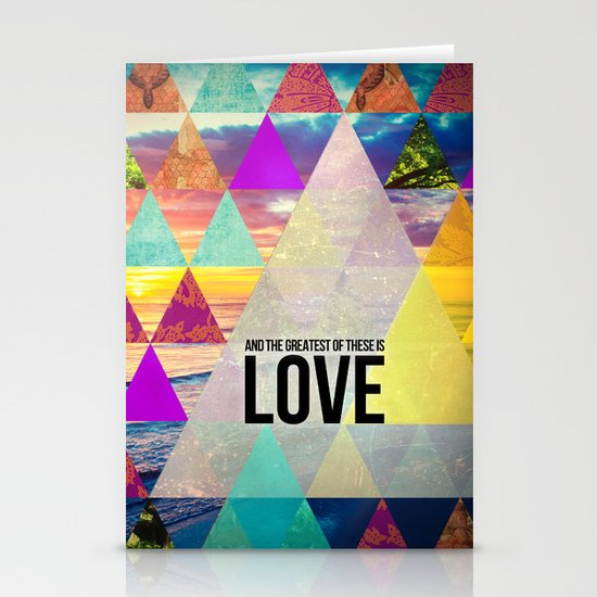 "1 Corinthians 13:13 ""And the greatest of these is Love"" Stationery Cards"