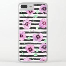 Grunge Desert Rose (lilac) Clear iPhone Case