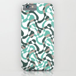 Funny bubbles print, scandinavian pattern, abstract design iPhone Case