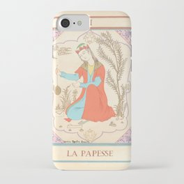 Tarot card-The Popess-The High Priestess-La Papesse iPhone Case