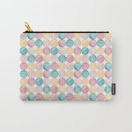 Scrawled Polka Dots Carry-All Pouch