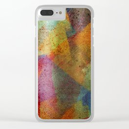 Colorful paint texture Clear iPhone Case