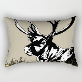 The Reindeer named Caribou, northern Quebec Rectangular Pillow