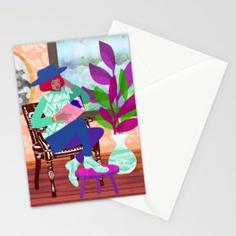 Poetry Reading Stationery Cards