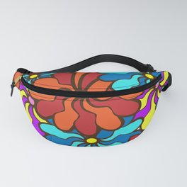 floral background. field of multi colored bright summer colors for the background Fanny Pack
