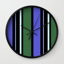 Stripes in colour 6 Wall Clock