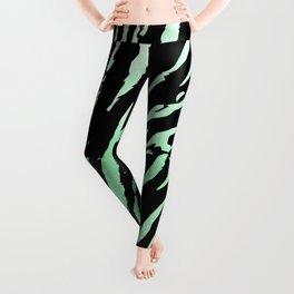 Tiger Green Watercolor Gradient Leggings