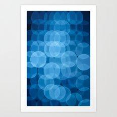 circles light blue Art Print