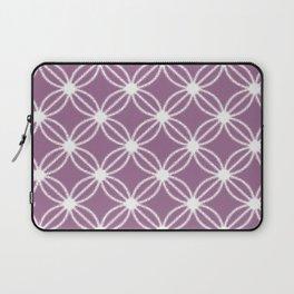Abstract Circle Dots Purple Laptop Sleeve