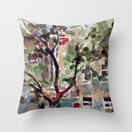Brooklyn Brownstones Throw Pillow