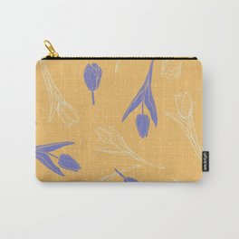 Sunny pattern with purple tulips Carry-All Pouch