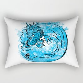 Dragon Waves Rectangular Pillow