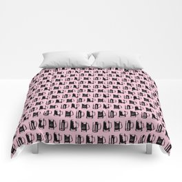Beer Mugs on Pink Comforters