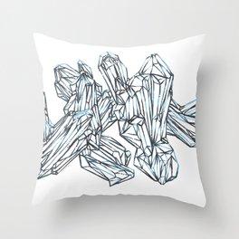 Blue Around The Edges Throw Pillow