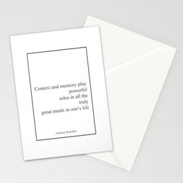Anthony Bourdain  - Context And Memory W Stationery Cards