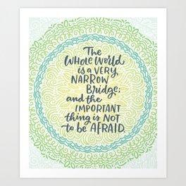 Narrow Bridge Mandala Art Print