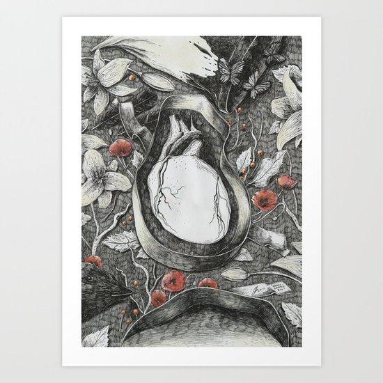 Heart-Shaped Box Art Print