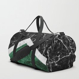 Arrows - Black Granite, White Marble & Green Granite #412 Duffle Bag