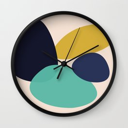 Colored Pebbles Wall Clock