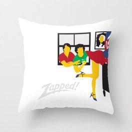 Zapped Throw Pillow