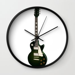 Les Paul Green Wall Clock