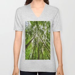 The Ancient Tree Canopy Unisex V-Neck