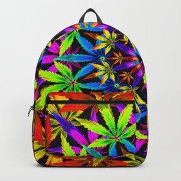 Stoners' Mandala Cannabis Leaves Backpack