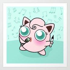 Cute Jiggly puff Art Print