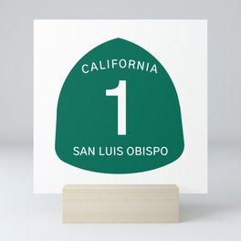 Highway 1 Sign: San Luis Obispo, California Mini Art Print
