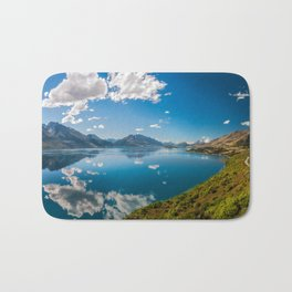 Breathtaking View from a famous scenic Lookout at Lake Wakatipu Bath Mat
