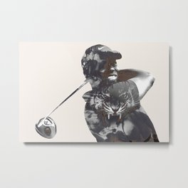Sir Tiger Woods Metal Print
