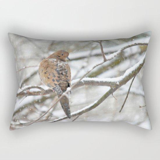 Winter Dove Rectangular Pillow