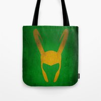 loki Tote Bags featuring Loki by Some_Designs