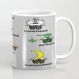 Weird and Wacky Head Types Coffee Mug
