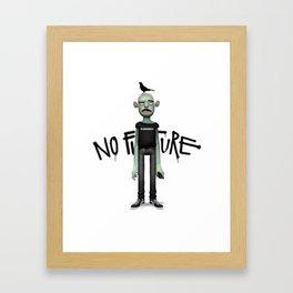 No Future Framed Art Print