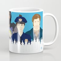movies Mugs featuring Finding Junior (Faces & Movies) by Alain Bossuyt