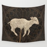 vegetable Wall Tapestries featuring Vegetable Lamb of Tartary by Jessica Roux