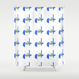 Flag of Guatemala 4-Guatemalan,Mixco,Villa Nueva,Petapa,tropical,central america,spanish,latine Shower Curtain