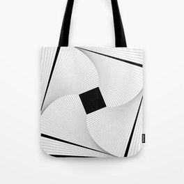 Squares 2 Black and White Tote Bag