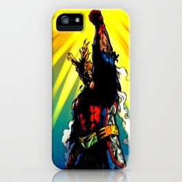 THE SYMBOL OF PEACE - ALL MIGHT iPhone Case