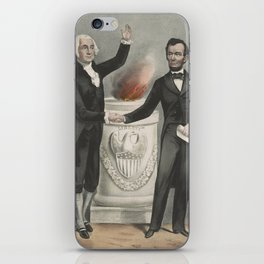 Vintage American Founding Fathers Illustration (1865) iPhone Skin