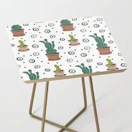 Prickly Pear Cactus Side Table