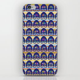 Multicolored fans and stripes pattern iPhone Skin