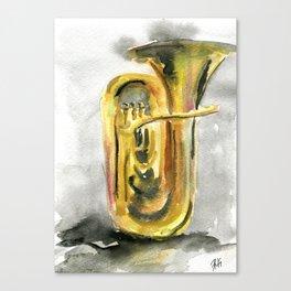 Solo tuba Canvas Print