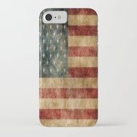american flag iPhone & iPod Cases featuring American Flag by KOverbee