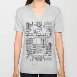 Engineered Sketch Unisex V-Neck