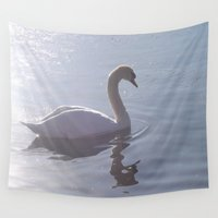 swim Wall Tapestries featuring Afternoon Swim by Lorna Kay